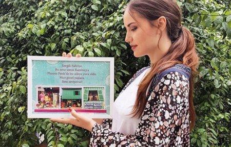 Фахрийе Эвджен поблагодарила свой фан-клуб за подарок