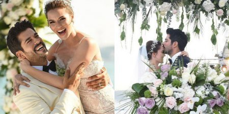 Свадебные наряды Бурака Озчивита и Фахрийе Эвджен