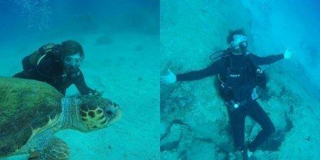 Кыванч Татлытуг отдыхает под водой