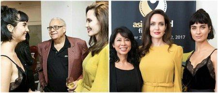 Анджелина Джоли и Туба Бюйюкюстюн встретились на фестивале