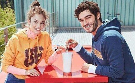 Мелиса Шенолсун и Бурак Дениз в одной рекламе