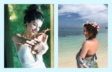Ханде Эрчел и Бурджу Озберк отдыхают на Мальдивах