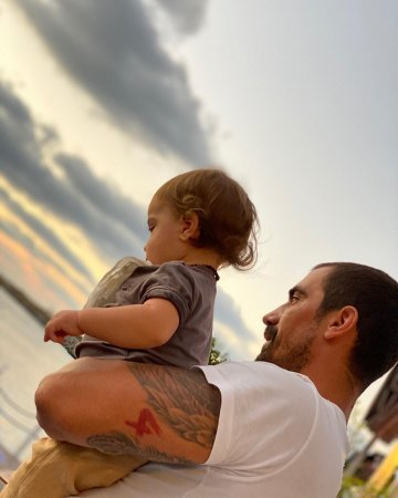 Ибрагим Челиккол с сыном