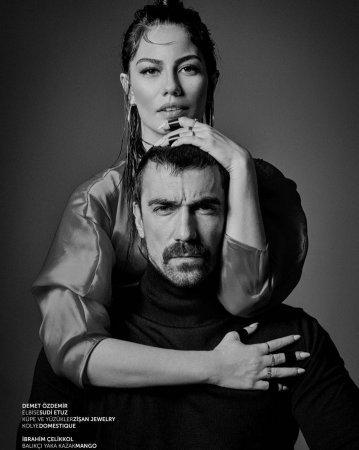 Огненная фотосессия Ибрагима Челикколя и Демет Оздемир