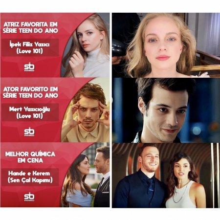 Турецкие актеры получили награды из Бразилии