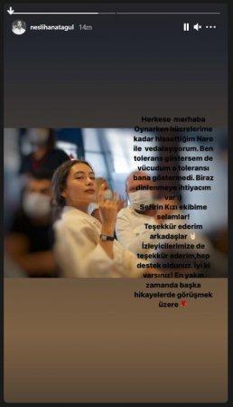 Неслихан Атагюль покинула «Дочь посла»