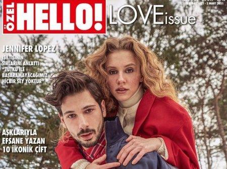 Ахсен Эроулу и Дениз Джан Акташ на обложке журнала Hello