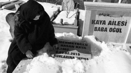 Актриса Серай Кайя провела свой день рождения у могилы отца