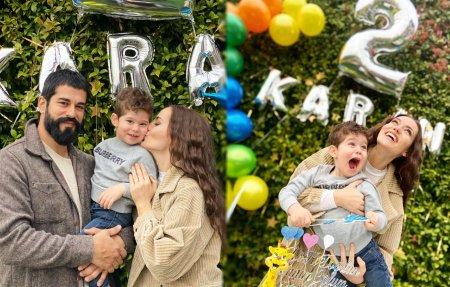Бурак Озчивит и Фахрийе Эвджен отпраздновали двухлетие сына