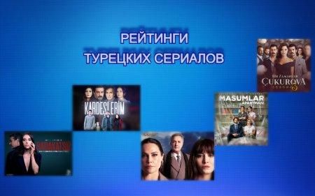 Рейтинги турецких сериалов с 03.05 - 09.05.2021