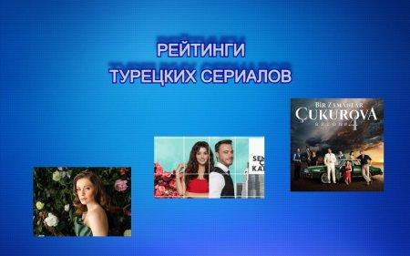 Рейтинги турецких сериалов с 06.09 - 12.09.2021